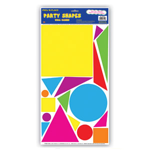 Party Shapes Peel n Place - 17ct Square
