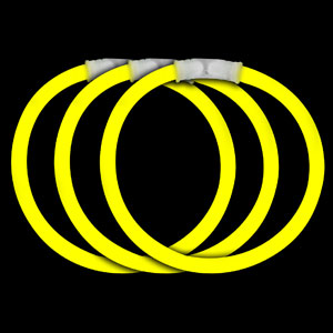 Fun Central P76 8 Inch Glow in the Dark Bracelets - Yellow