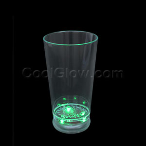 LED Flashing Pint Glass - Green