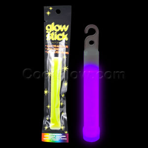 4 Inch Retail Packaged Glow Stick - Purple