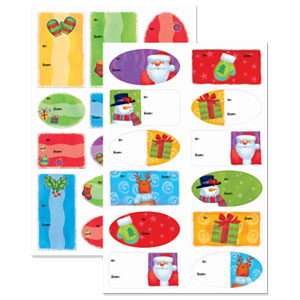 Whimsical Adhesive Gift Tags- 100ct