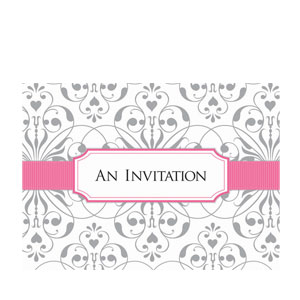 Scroll Folded Invitations- 8ct