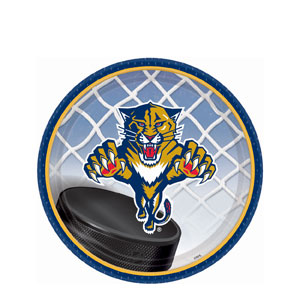 Florida Panthers 7 Inch Plates- 8ct