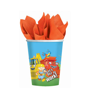 Bob The Builder 9 oz. Cups- 8ct