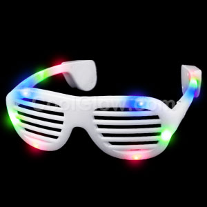 LED Supreme Shutter Slotted Shades - Rainbow