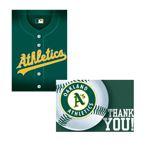 Oakland Athletics Invitations and Thank You Cards Set- 16ct
