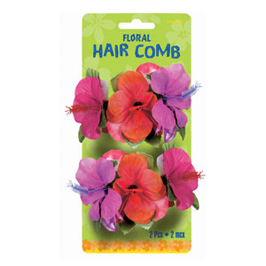 Tropical Hair Combs- 2ct