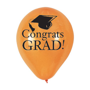 Orange Grad Latex Balloon