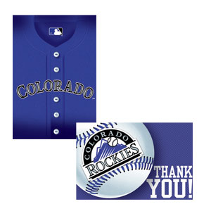 Colorado Rockies Invitations and Thank You Cards Set- 16ct