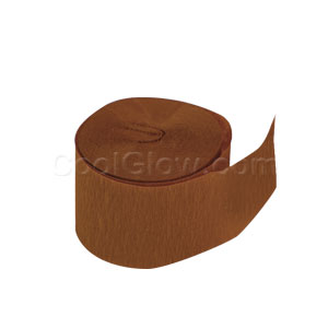 Chocolate Brown Crepe Paper- 81ft