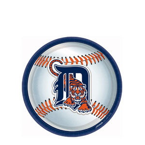 Detroit Tigers 9 Inch Plates- 18ct