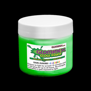 Glominex™ Glow Paint 8 oz Jar Green