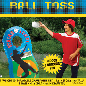 Baseball Inflatable Bean Toss Game- 2pc