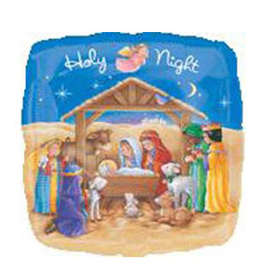 Holy Night Foil Balloon - 18 Inch