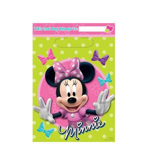 Disney Minnie Mouse Folded Loot Bags- 8ct