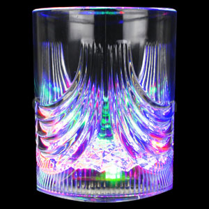 LED 6oz Liquid Activated Crystal Glass - Multicolor