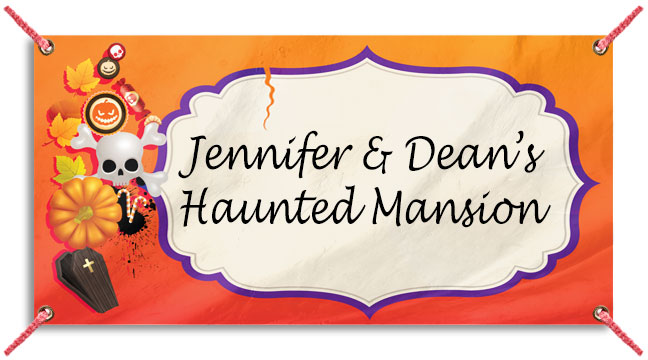 Halloween Icons Orange - Custom Banner