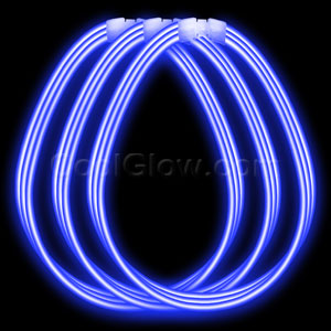 22 Inch Super Wide Glow Necklaces - Blue