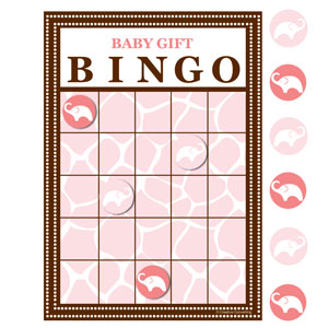 Wild Safari Bingo - Pink 10 ct