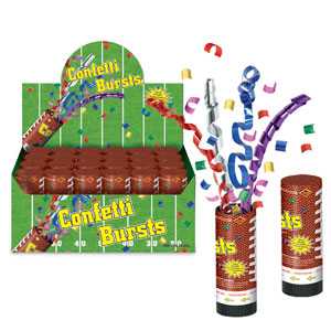 Football Confetti Bursts