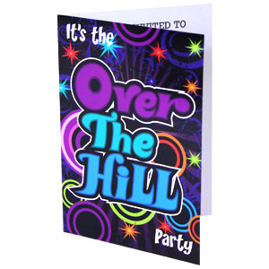 Over the Hill Invitations