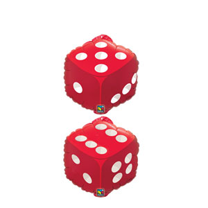 Double-Sided Dice Balloon - 18 inch