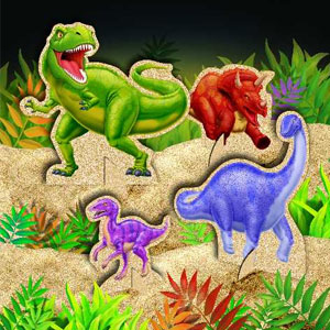Dino Blast Stand-Up Centerpiece