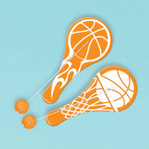 Basketball Paddle Ball- 12ct