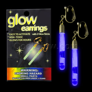Glow Pendant Earrings - Blue
