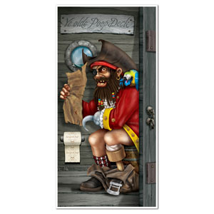 Pirate Captain Restroom Door Cover - 5ft