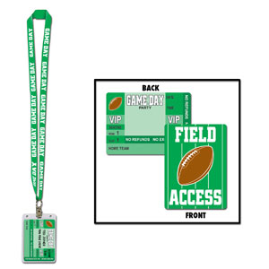 Game Day Football Party Pass- 25in