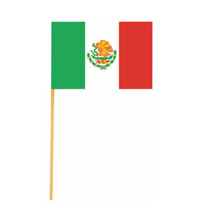 Mexican Flag- 6in