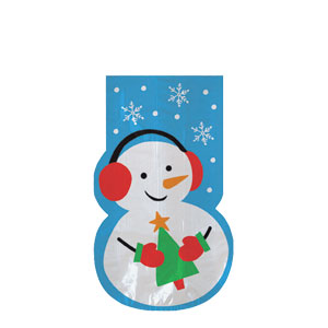 Snowman Shaped Party Bag- 20ct