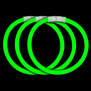 Fun Central P70 8 Inch Glow in the Dark Bracelets - Green