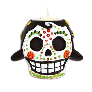 Day of the Dead Tea Light Holder - Female
