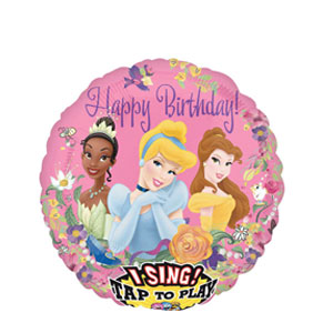 Princess Birthday Singing Balloon- 28 Inch