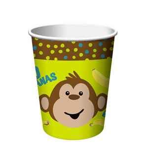 Monkeyin' Around 9 oz. Cups- 8ct