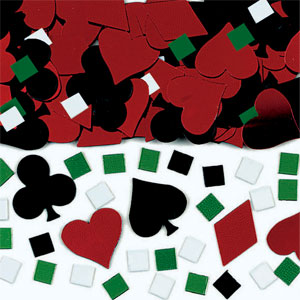 Casino Metallic Confetti