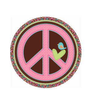 Hippie Chick 9 Inch Plates- 8ct