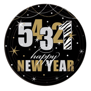 New Year's Countdown 7 inch Plates