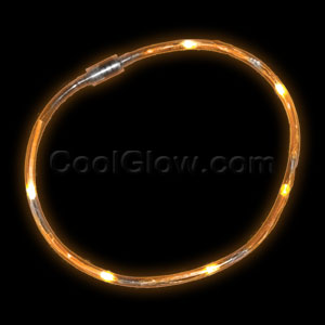 LED Light Chaser Necklace - Orange
