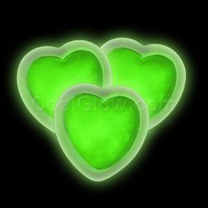 Glow Badge Heart - Green