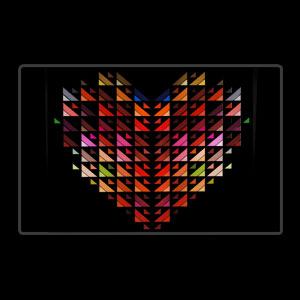 LED Sound Activated Patch - Heart