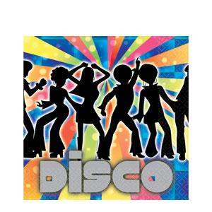 Disco Luncheon Napkins- 16ct