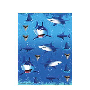 Shark Splash Value Stickers- 4ct