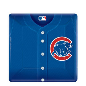 Chicago Cubs Square 10 Inch Plates- 18ct