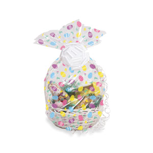 Easter Egg Cello Basket Bag