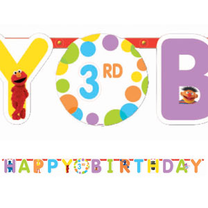 Sesame Street Add-An-Age Letter Banner- 10ft