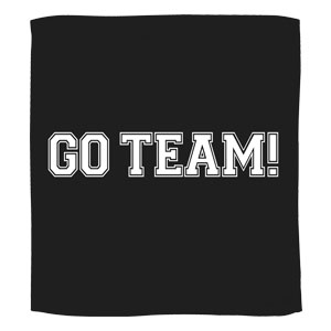 Go Team Towel - Black