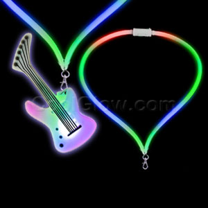 Fun Central G752 LED Light Up Flashing Lanyard - Guitar